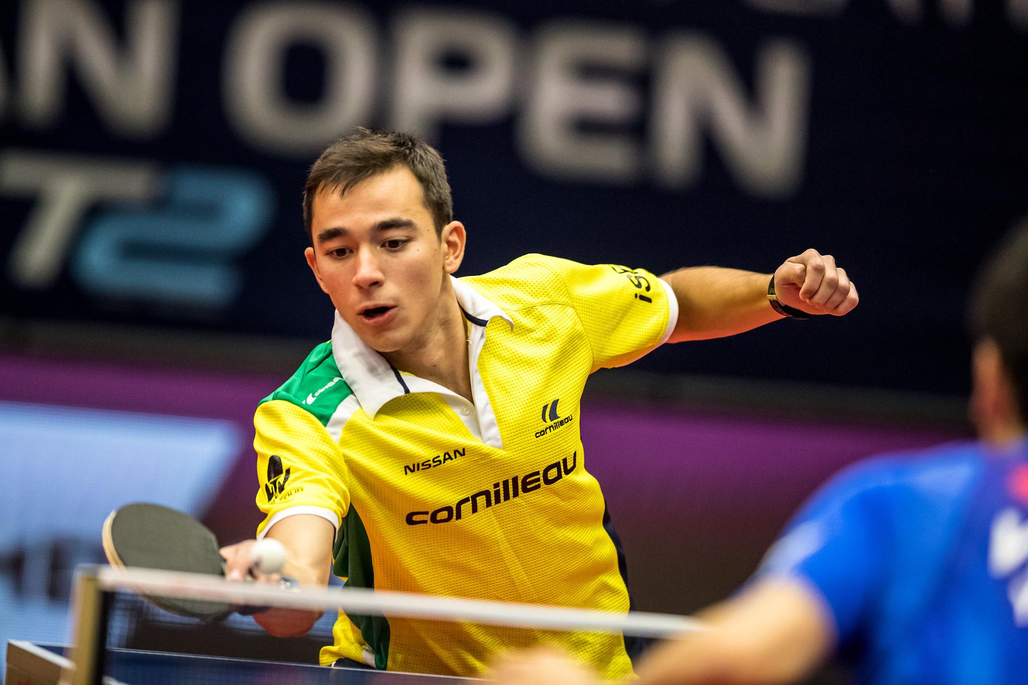 Hugo Calderano disputará a Copa do Mundo de tênis de mesa pela segunda vez