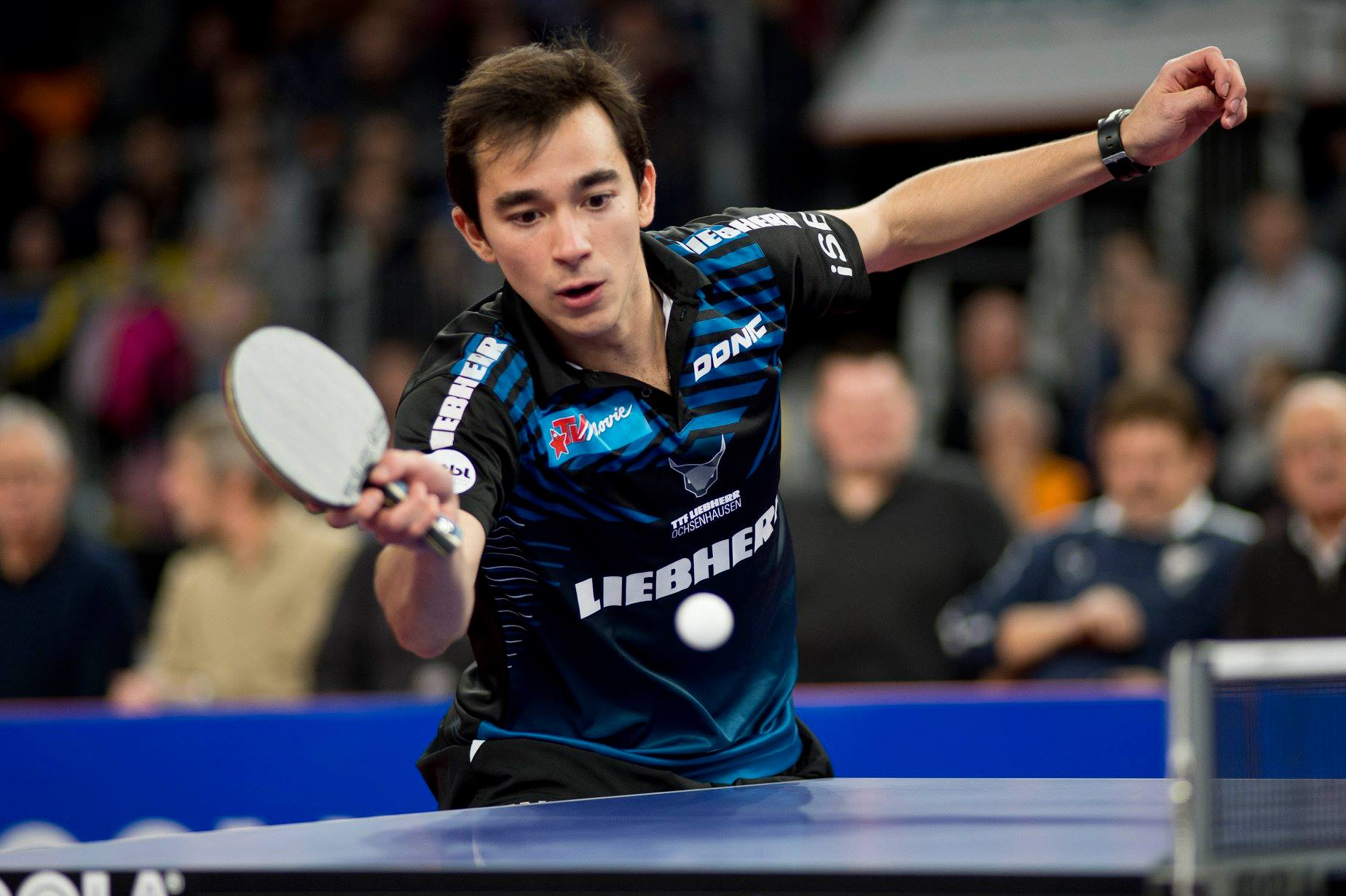 Hugo Calderano disputará sua segunda final na liga alemã de tênis de mesa (Crédito: Divulgação/Liebherr Ochsenhausen)