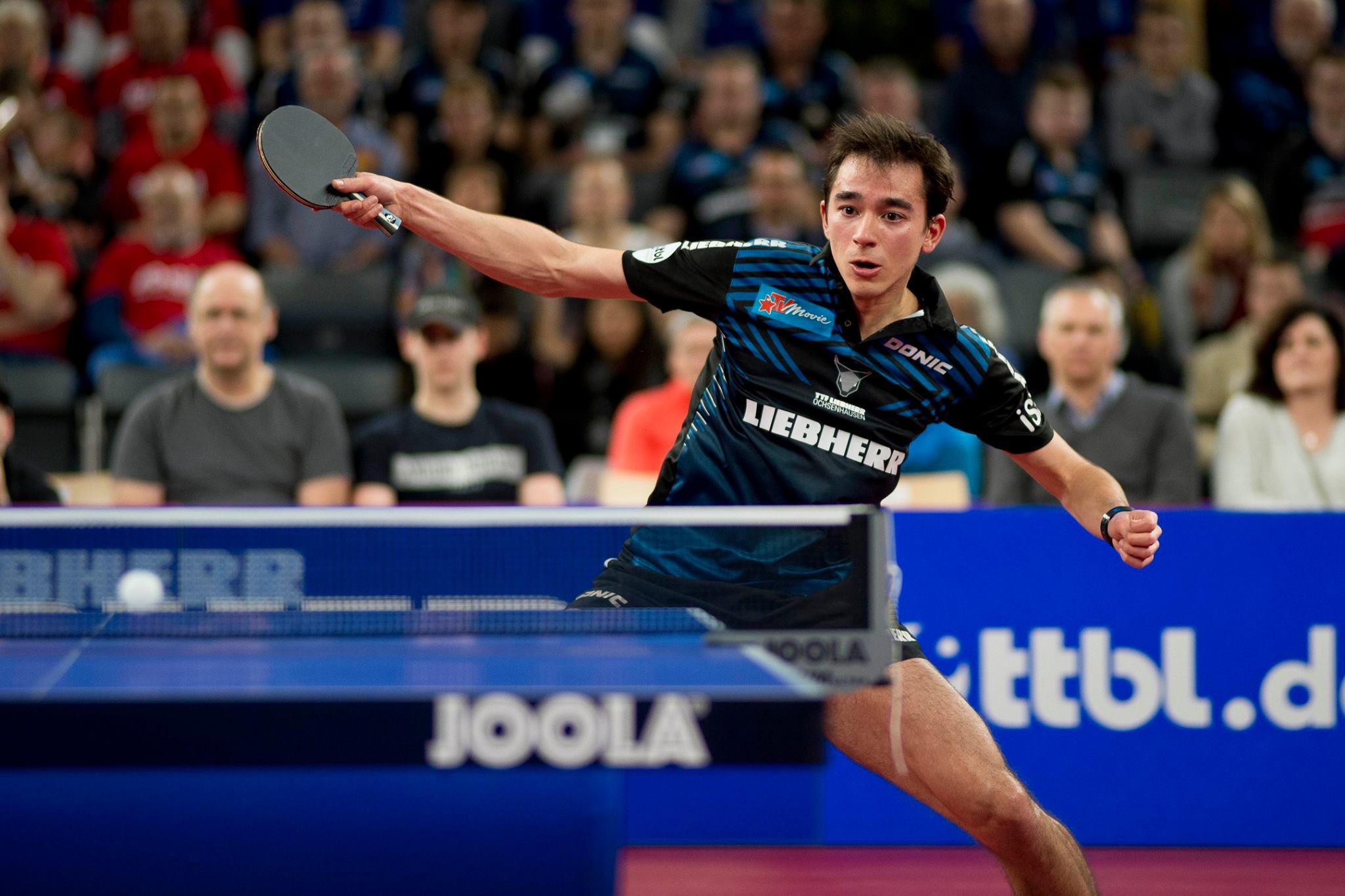 Hugo Calderano disputará sua segunda final na Bundesliga de tênis de mesa (Crédito: Divulgação/Liebherr Ochsenhausen)