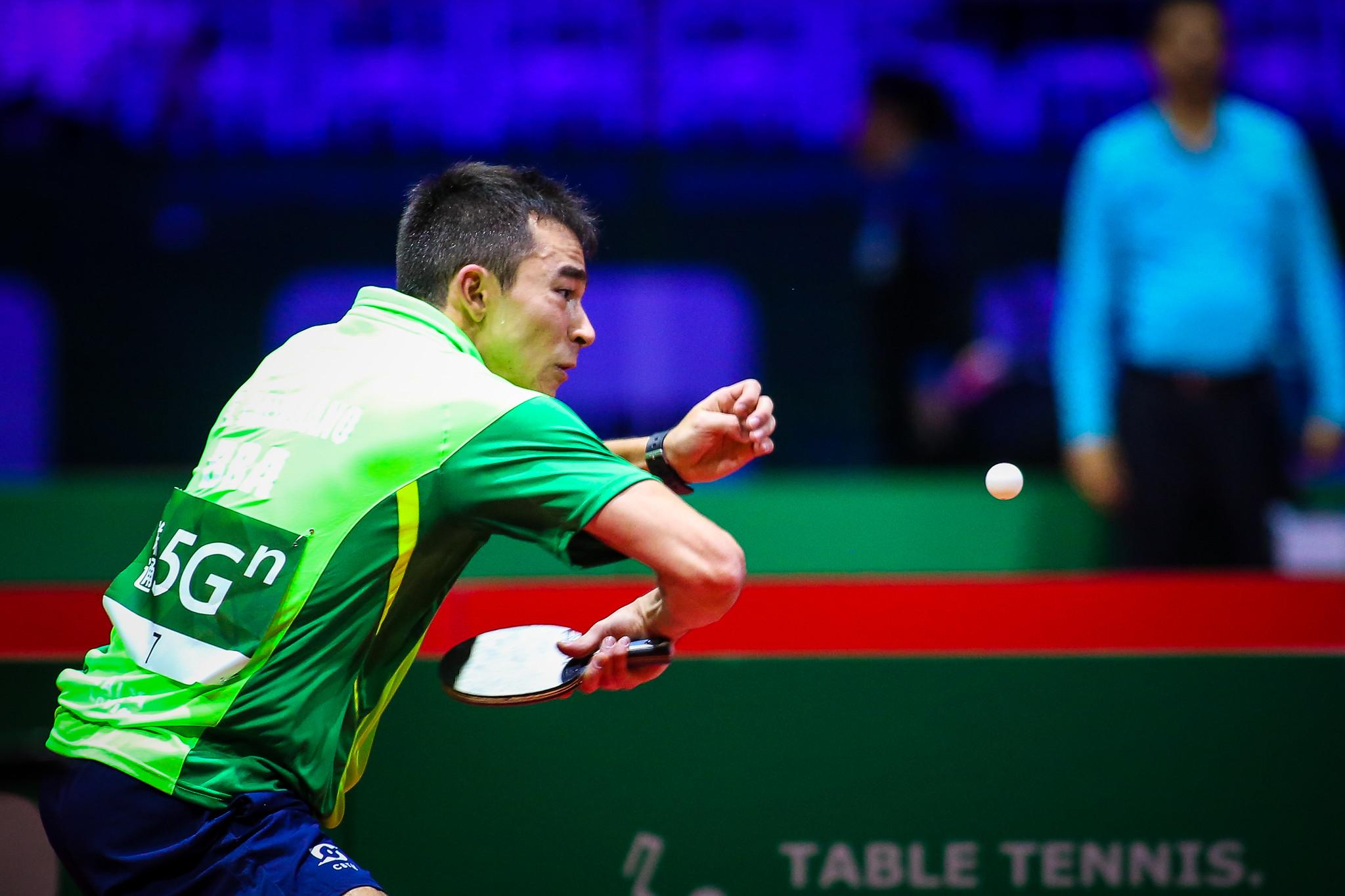 Hugo Calderano é o atual oitavo colocado do ranking mundial (Abelardo Mendes Jr./Rede do Esporte)