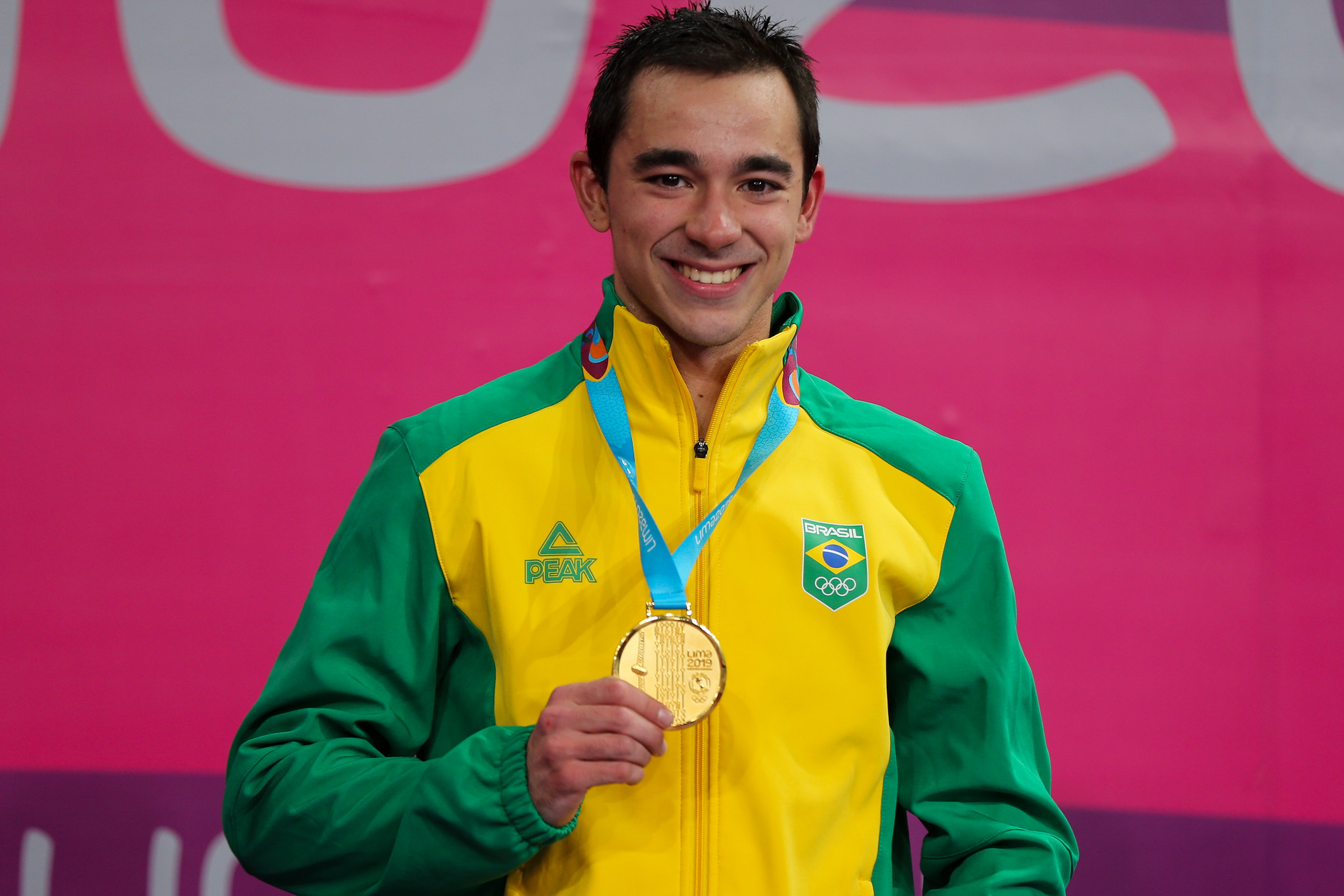 Hugo Calderano se garantiu em Tóquio-2020 com o ouro individual no Pan de Lima (Crédito: Abelardo Mendes Jr/ rededoesporte.gov.br)