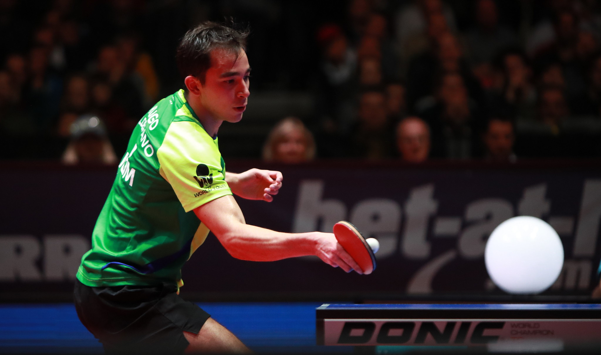 Hugo Calderano estreará na Copa do Mundo já nas oitavas de final (Crédito: ITTF)