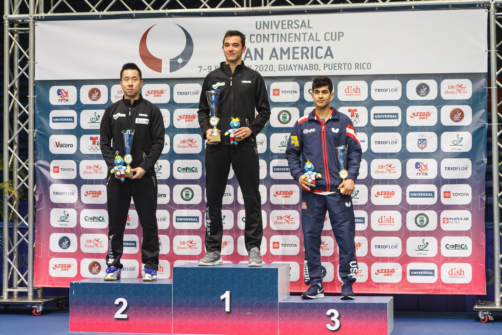 Hugo Calderano levou o tri da Copa Pan-Americana em fevereiro (Crédito: Divulgação/ITTF)