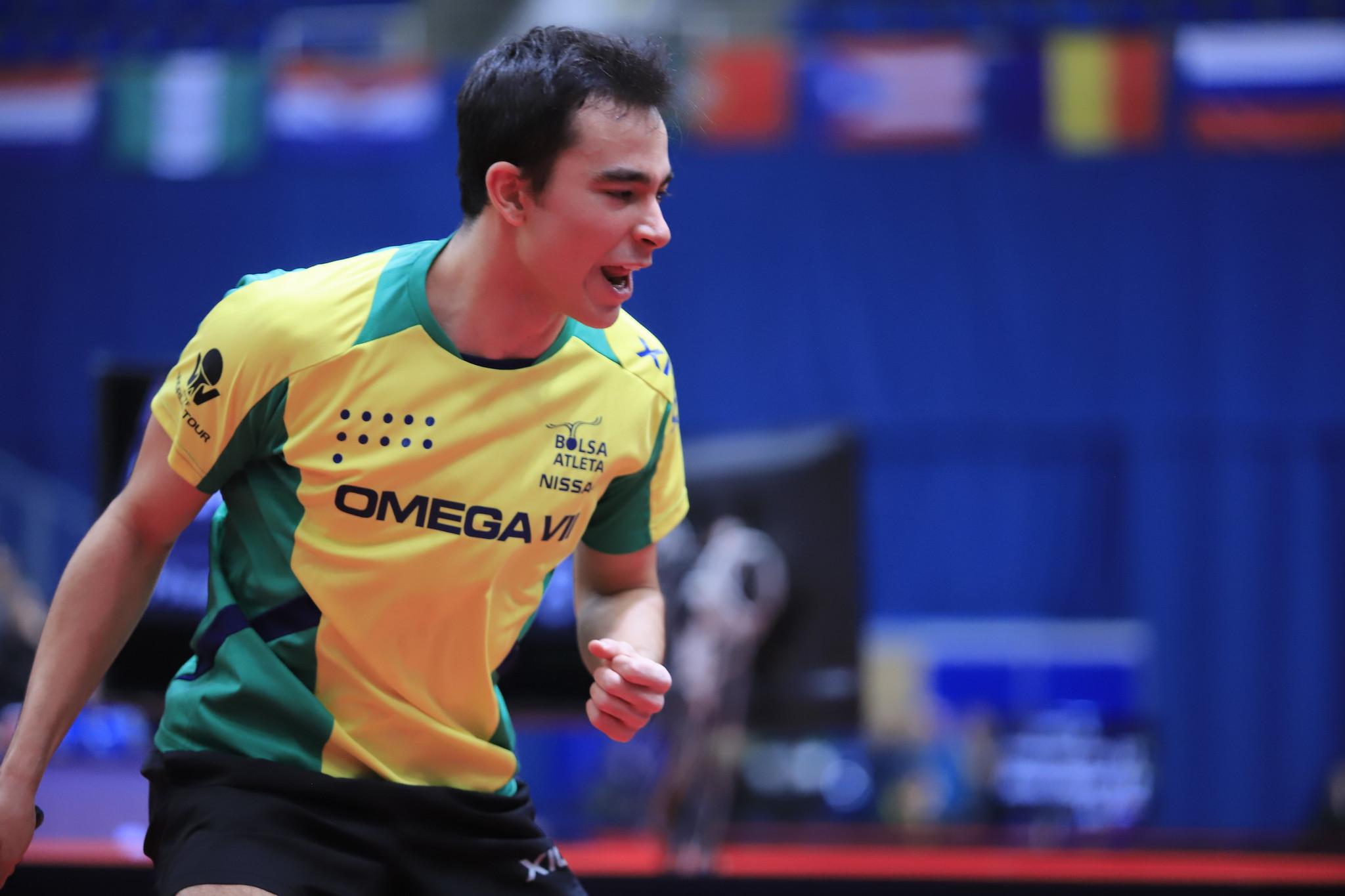 Hugo Calderano já conquistou duas medalhas no Qatar (Crédito: Divulgação/ITTF)