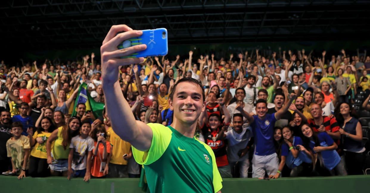Hugo Calderano fez sua estreia olímpica no Rio, em 2016 (Crédito: Mike Ehrmann/Getty Images)