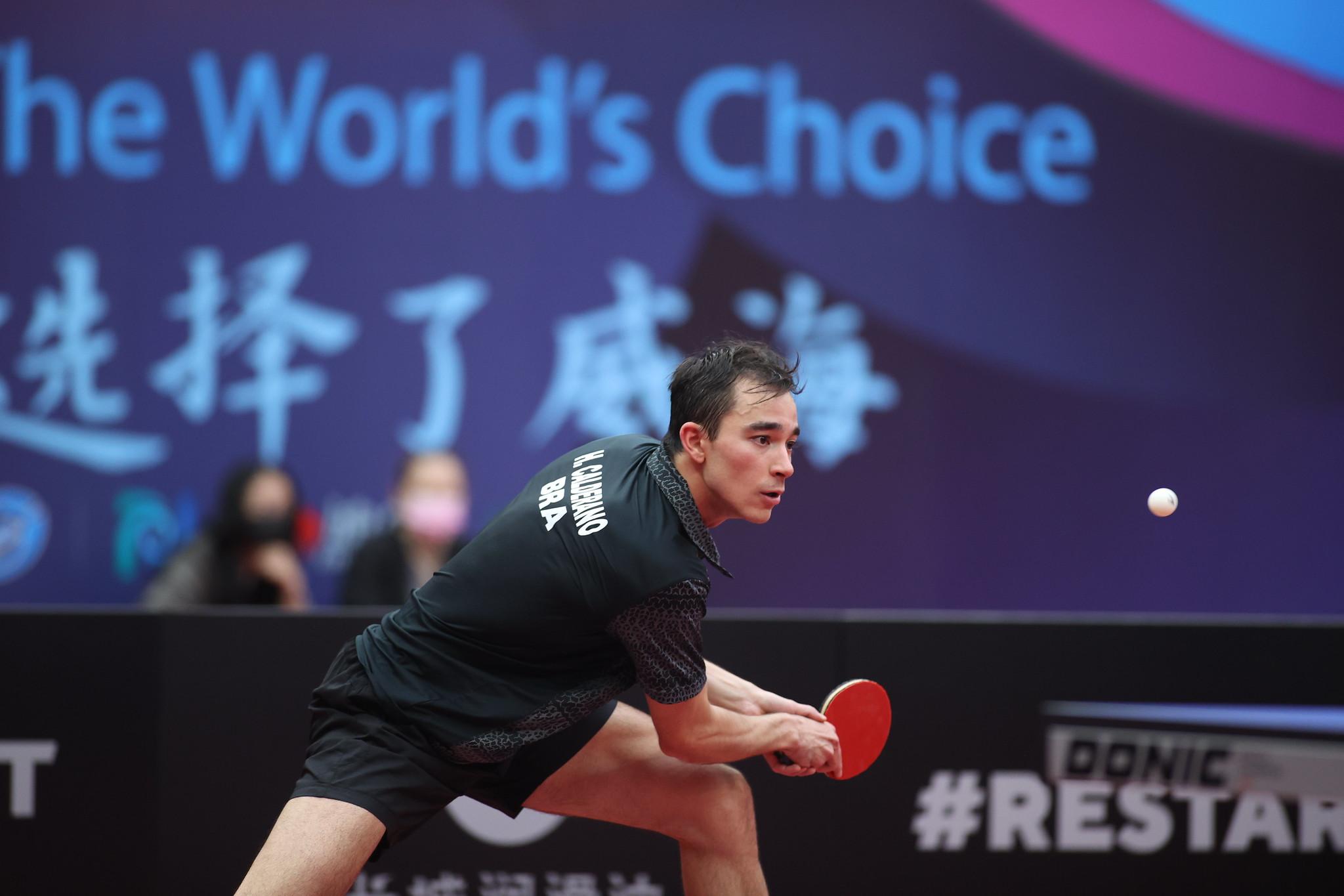 Hugo disputará o ITTF Finals pelo terceiro ano seguido (Crédito: ITTF)