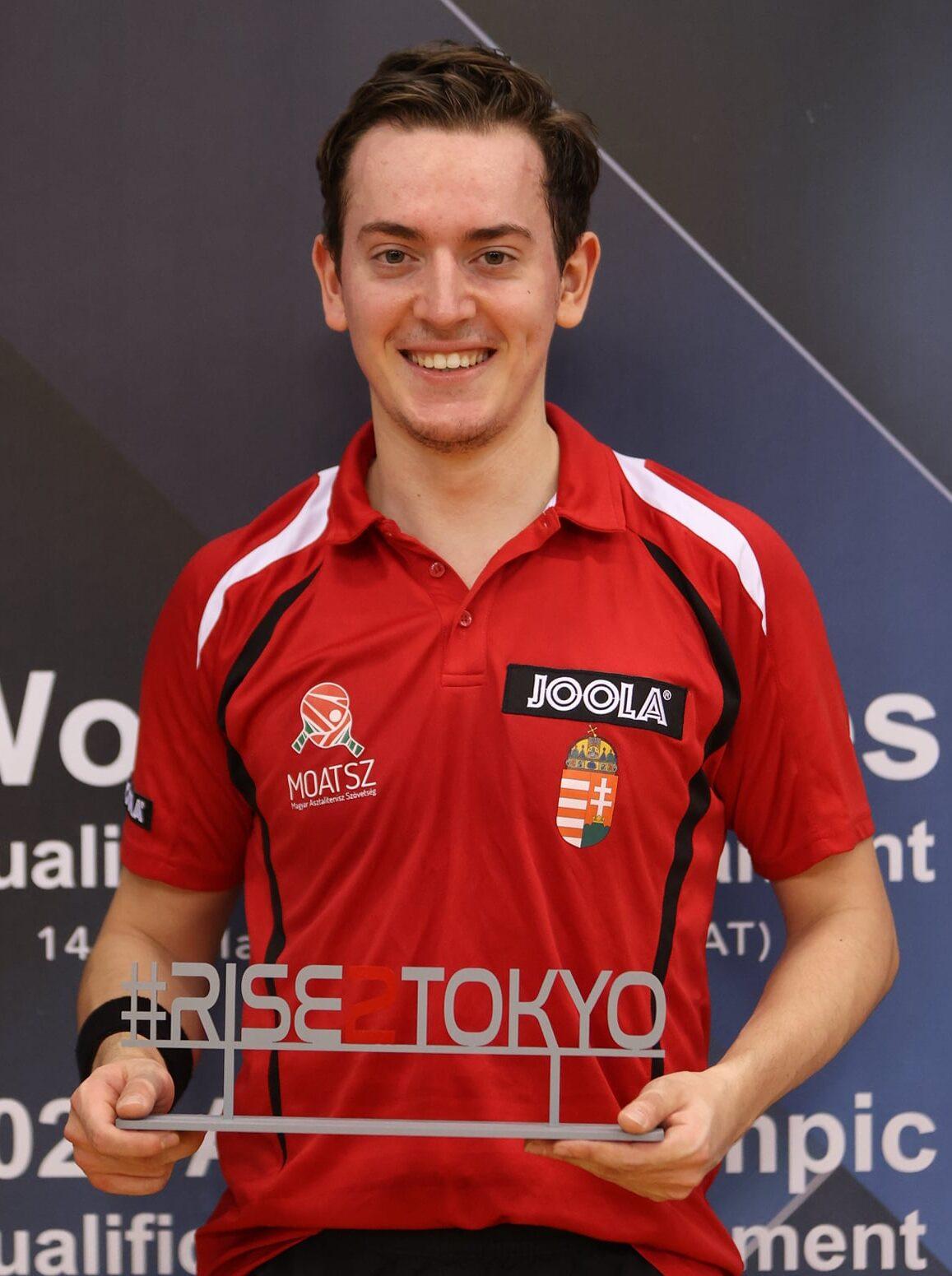 Bence Majoros, da Hungria, garantiu sua vaga pelo Pré-Olímpico mundial (Crédito: ITTF)