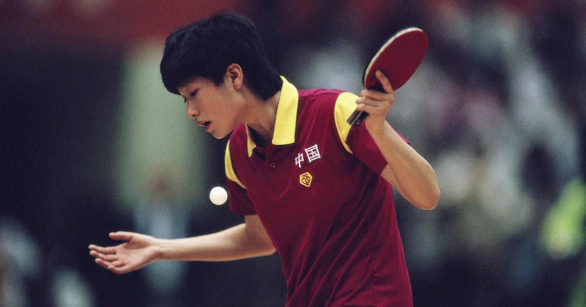 Jing Chen foi a primeira campeã olímpica no tênis de mesa (Crédito: Divulgação/Olympics)
