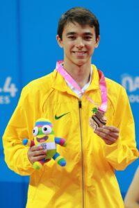 Hugo conquistou medalha inédita em Nanjing (Crédito: ITTF)